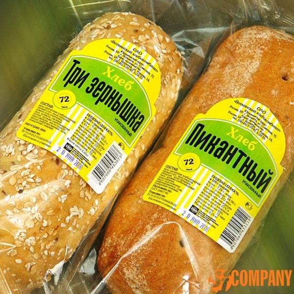 пример  этикетки для хлеба