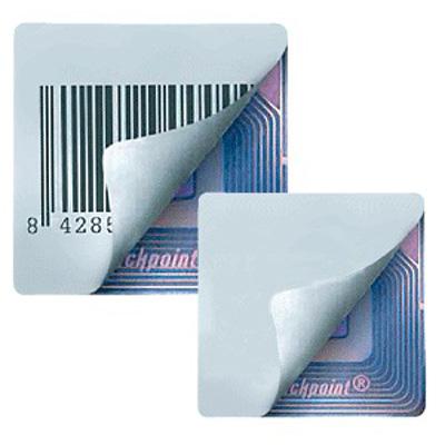 Этикетка для противокражных систем, белая или с ложным штрих-кодом, 38х41 мм 2000 шт/рул, пр-во Checkpoint