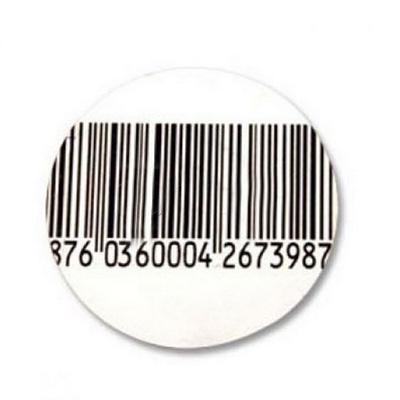 Противокражная  этикетка с ложным штрих-кодом круглая 40х40 мм 1000 шт./рул.