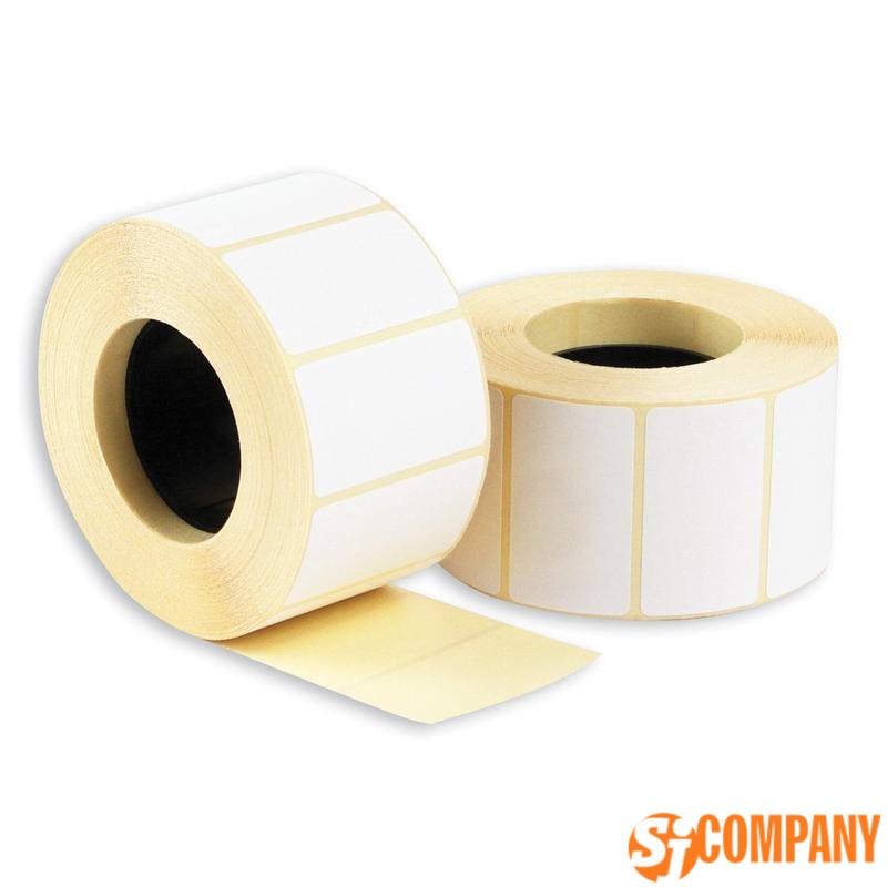 Термоэтикетки ECO матовые из бумаги белые
