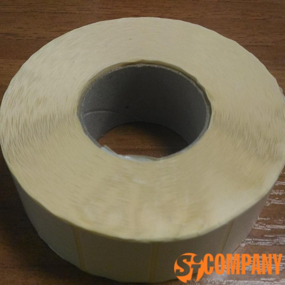 самоклеющаяся этикетка белая ширина ленты